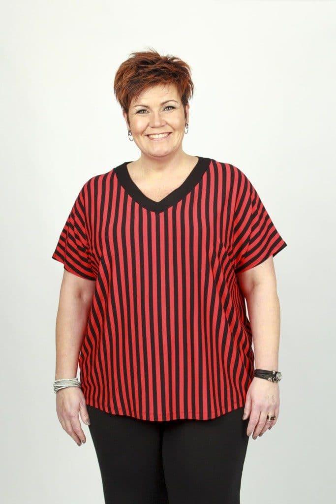 Marika Red Stripe