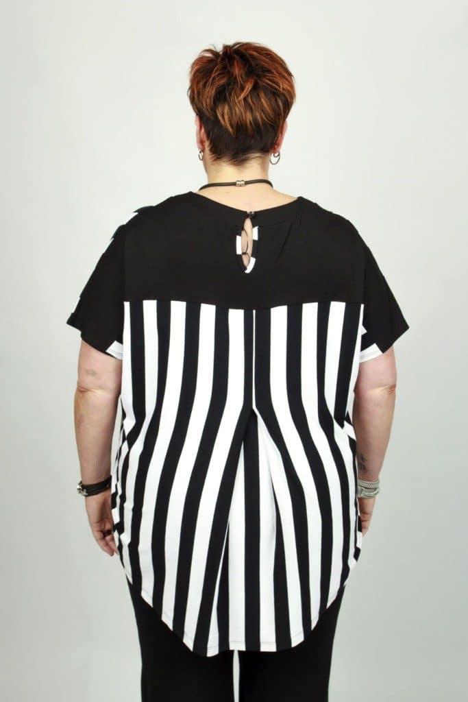 Marika White Stripe