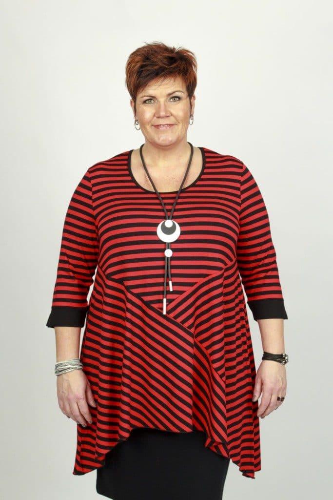 Marjan Red Stripe