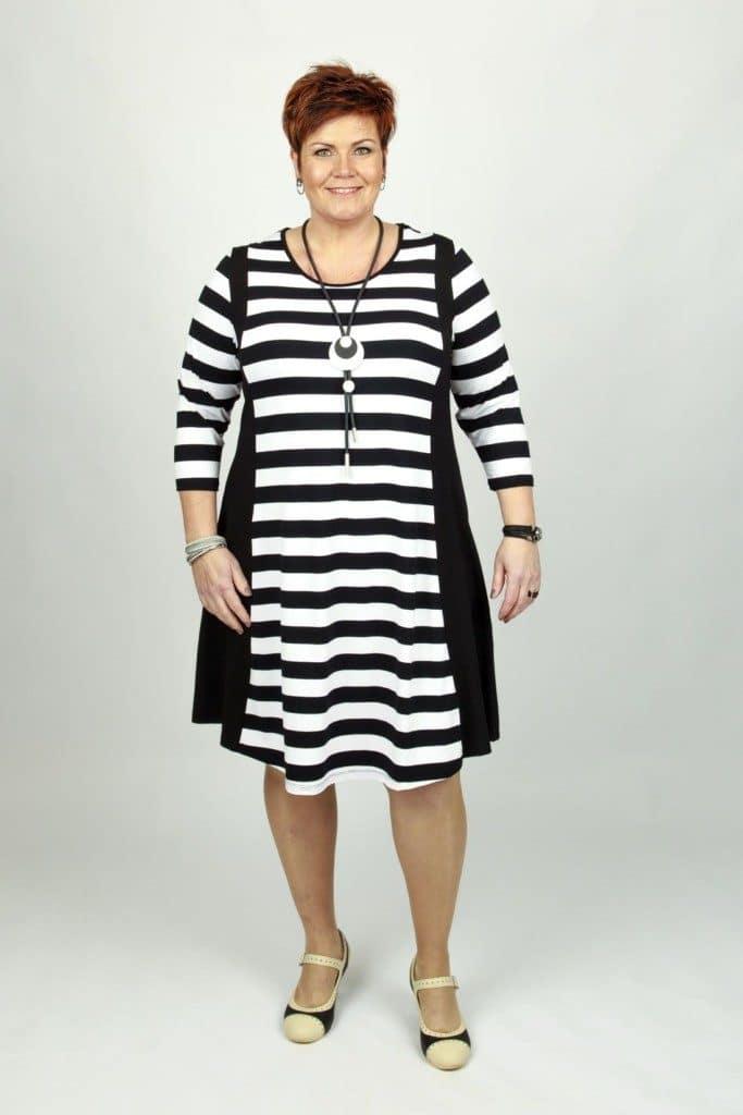 Mette White Stripe