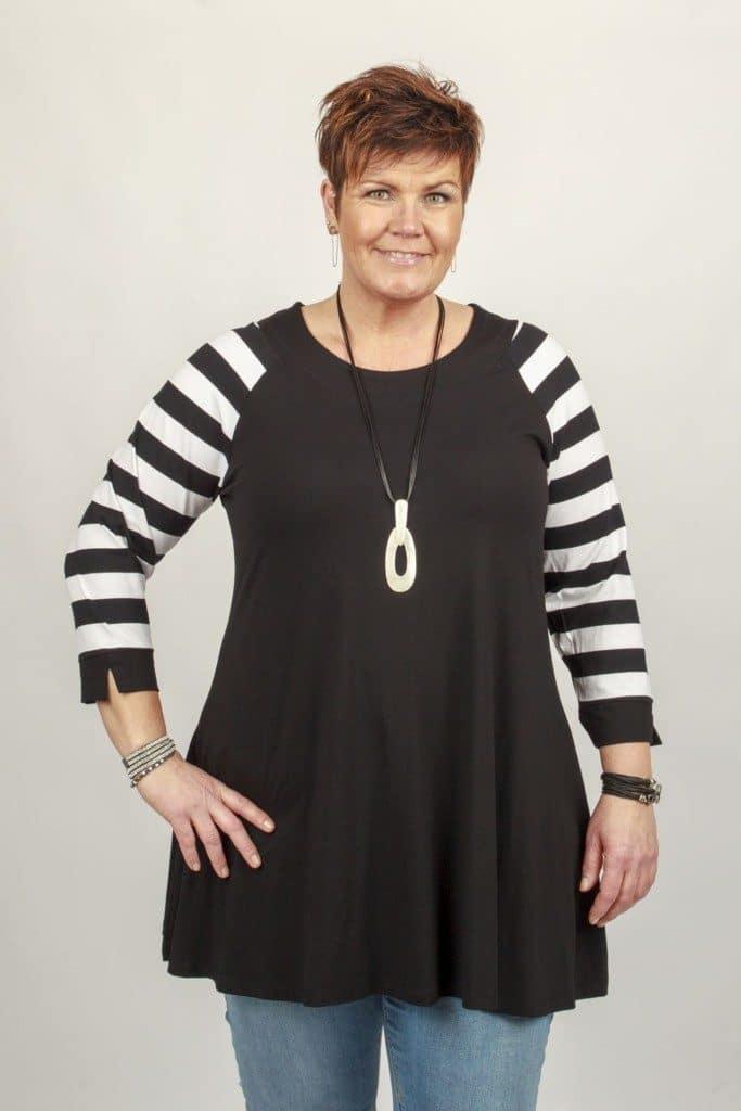 Ulla White Stripe